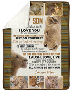 Gift For Son From Mom Lions Never Forget How Much I Love You Sherpa Blanket