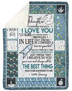 Just Know That I Believing In You Gift For Granddaughter Sherpa Blanket