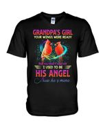 Cardinal Gift For Angel Grandpa Your Wings Were Ready Guys V-Neck
