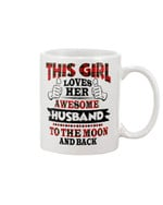 This Girl Loves Her Husband Plaid Red Gift For Husband Mug