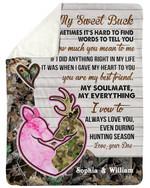 Gift For Husband You Are My Best Friend Fleece Blanket Sherpa Blanket