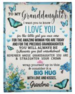 Grandma Gift For Granddaughter Wrap Yourself Up In This Fleece Blanket Sherpa Blanket