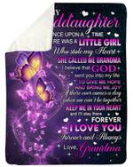 Keep Me In Your Heart Butterflies Fleece Blanket Grandma Gift For Granddaughter Sherpa Blanket
