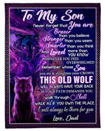 Best Gift For Son Whenever You Feel Overwhelmed Fleece Blanket