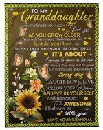 Learning To Dance In The Rain Grandma Gift For Granddaughter Fleece Blanket Fleece Blanket