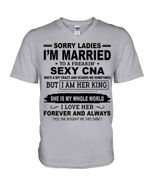 I'm Married To A Freaking Sexy CNA Gift For Husband Guys V-Neck
