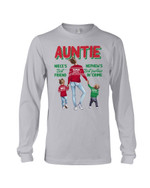 Auntie Is Important To Niece And Nephew Polka Dot Design Gift For Family Unisex Long Sleeve