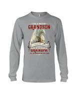 Grandpa Gift For Grandson White Dragon I'm A Proud Grandson Unisex Long Sleeve