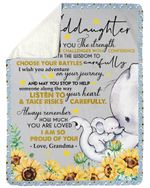 I Am So Proud Of You I Wish You The Strength Gift For Granddaughter Sherpa Blanket