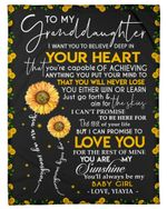 You Will Never Lose You Either Win Or Learn Gift For Granddaughter Fleece Blanket