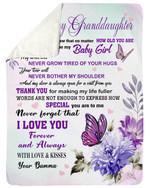 No Matte How Old You Are Bamma Gift For Granddaughter Fleece Blanket Sherpa Blanket