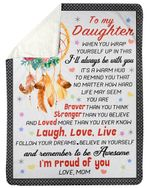 When You Wrap Yourself Up In This Dreamcatcher Fleece Blanket Mama Gift For Daughter Sherpa Blanket