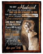 Wife Gift For Husband You Make Me A Better Person Fleece Blanket Sherpa Blanket