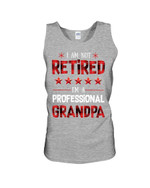 Gift For Family Star Pattern I'm A Professional Grandpa Unisex Tank Top