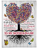To Mother In Law Tree Of Life You Are The Gift Of Life Fleece Blanket