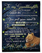 You Will Always Be My Baby Girl Grandma Gift For Granddaughter Fleece Blanket Sherpa Blanket