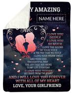 Love You Forever With All Of My Heart Fleece Blanket Gift For Husband Sherpa Blanket