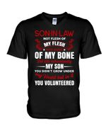 Gift For Son In Law Vintage You Didn't Grow Under My Heart Guys V-Neck