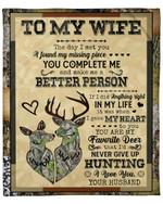 The Day I Met You Go Hunting Fleece Blanket Gift For Wife Fleece Blanket