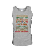 Rare Limited Edition Son In Law Of A Freaking Awesome Mother In Law Family Gift Unisex Tank Top