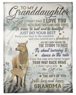 Enjoy The Ride Grandma Gift For Granddaughter Fleece Blanket Sherpa Blanket