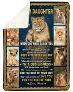 Love You For The Rest Of Mine Mom Fleece Blanket Gift For Daughter Lion Sherpa Blanket