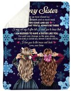 Gift For Sister I Love You To The Moon And Back Fleece Blanket Sherpa Blanket