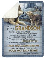 You Have Brains In Your Head Wolf Fleece Blanket Grandma Gift For Grandson Sherpa Blanket