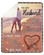 Gift For Husband Sunrise I Love You Forever And Always Fleece Blanket Sherpa Blanket