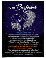 I Love You Forever Blue Star Night Gift For Boyfriend Fleece Blanket Sherpa Blanket