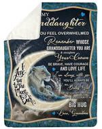 Grandma Gift For Granddaughter Fleece Blanket I Love You To The Moon And Back Sherpa Blanket