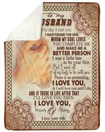 Mandala Wife Gift For Husband You Make Me A Better Person Fleece Blanket Sherpa Blanket