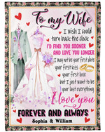 Gift For Wife Rings Want To Be Your Last Everything Fleece Blanket Sherpa Blanket