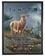The Old Doe Will Always Have Your Back Gift For Son Fleece Blanket Sherpa Blanket