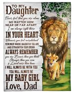 Lion King Straighten Your Crown Fleece Blanket Dad Gift For Daughter Fleece Blanket