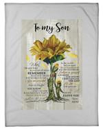 The Gift Of YOu Sunflower Tree Of Life Mom Fleece Blanket Gift For Son Fleece Blanket