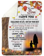 Autumn Season Always Be With You Fleece Blanket Mom Gift For Son Sherpa Blanket