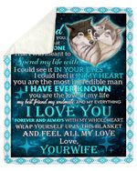 You Are The Love Of My Life Couple Wolf Wife Gift For Husband Fleece Blanket Sherpa Blanket