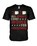 2020 All Hearts Come Home For Christmas Gift For Women Guys V-Neck