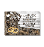 Deers An Old Buck And His Sweet Doe Gift For Wife Matte Canvas