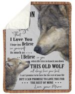 When Life Tries To Knock You Down Wolf Meme Gift For Grandson Sherpa Blanket