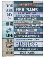The Day I Met You Gift For Wife Fleece Blanket