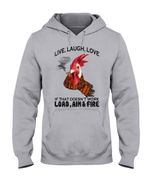 Chicken Live Laugh Love Gift For Farmer Hoodie