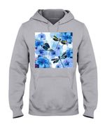 Lovely Phone Case With Blue Flowers Gift For Dragonfly Lovers Hoodie