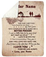 I Want All Of My Lasts To Be With You Custom Name Gift For Wife Sherpa Blanket