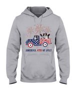 America 4th Of July Truck Boston Terrier Gift For Dog Lovers Hoodie