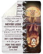 Love You For The Rest Of Mine Lion Reflection Red Mom Papa Gift For Son Sherpa Blanket