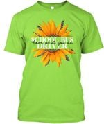 Vintage Funny Love What You Do With Sunflower Gift For School Bus Driver Guys Tee