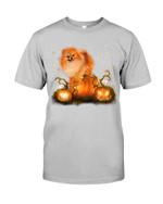 Magical Halloween Night Pomeranian Gift For Dog Lovers Guys Tee