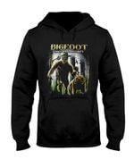 Bigfoot Forest Lands Security With Bear Gift For Men Hoodie